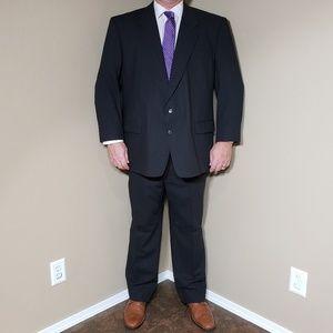Vtg Andre Vachon Gray Pinstripe Suit